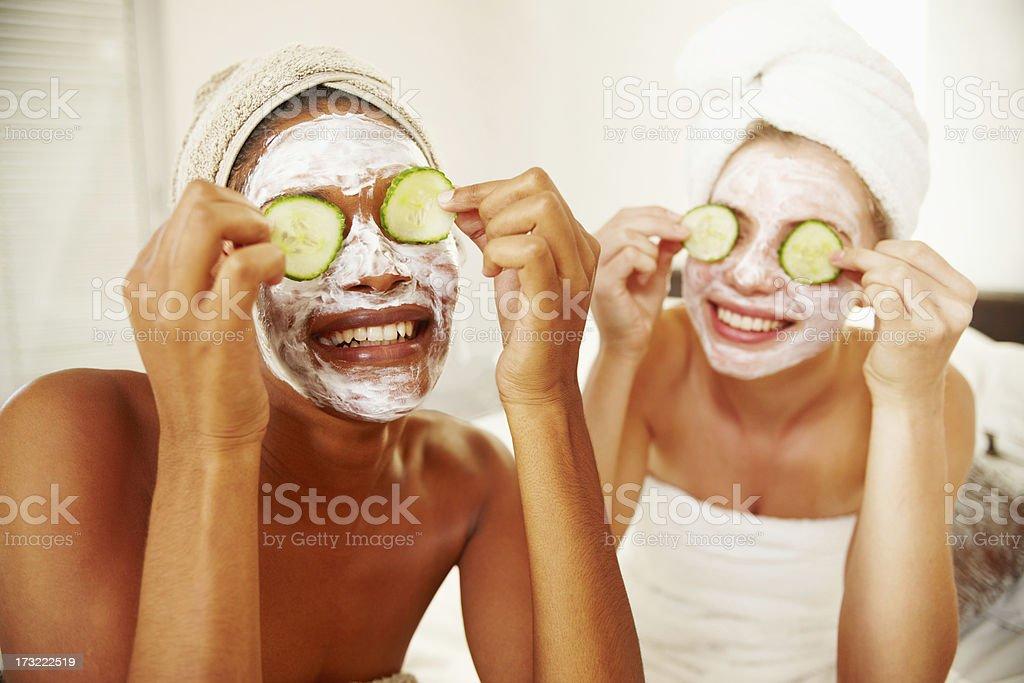 Natural homemade facial mask stock photo