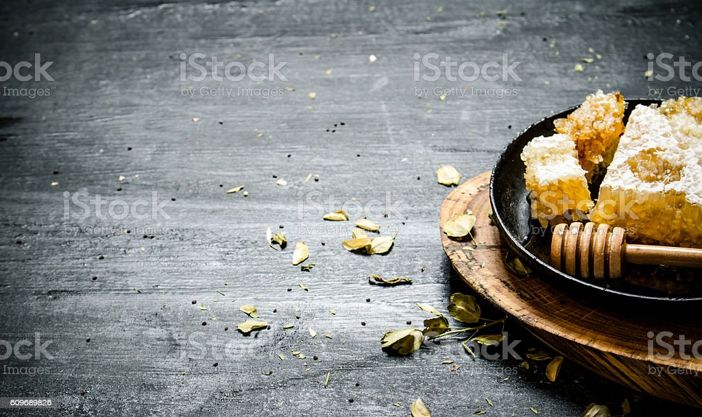 Natural honey comb stock photo