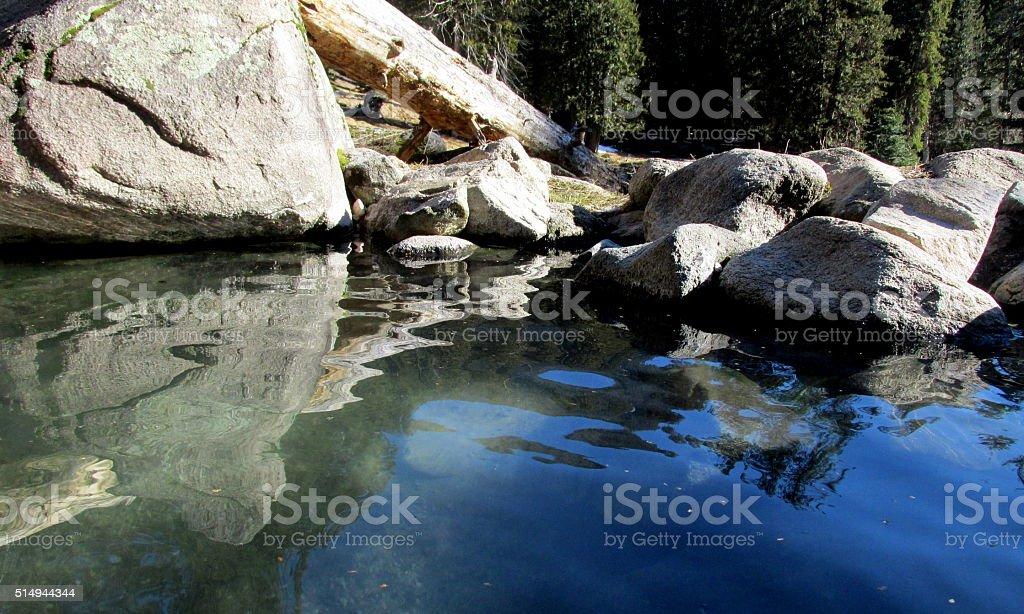 Natural Hot Springs in Northern Idaho stock photo