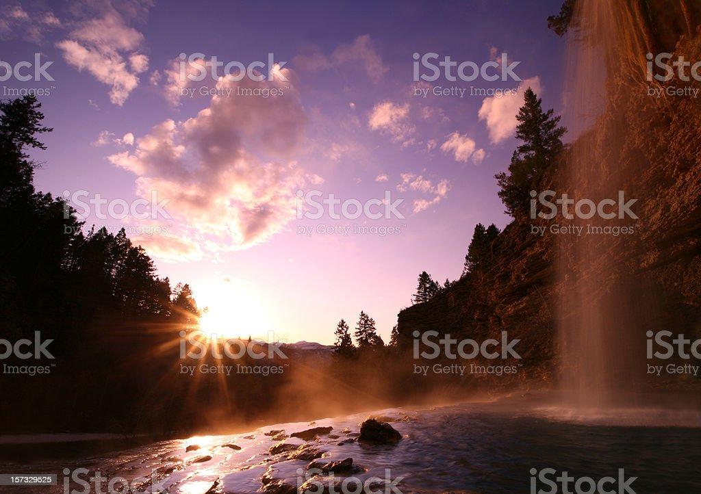Natural Hot Springs royalty-free stock photo