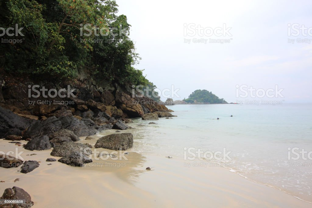 natural island stock photo