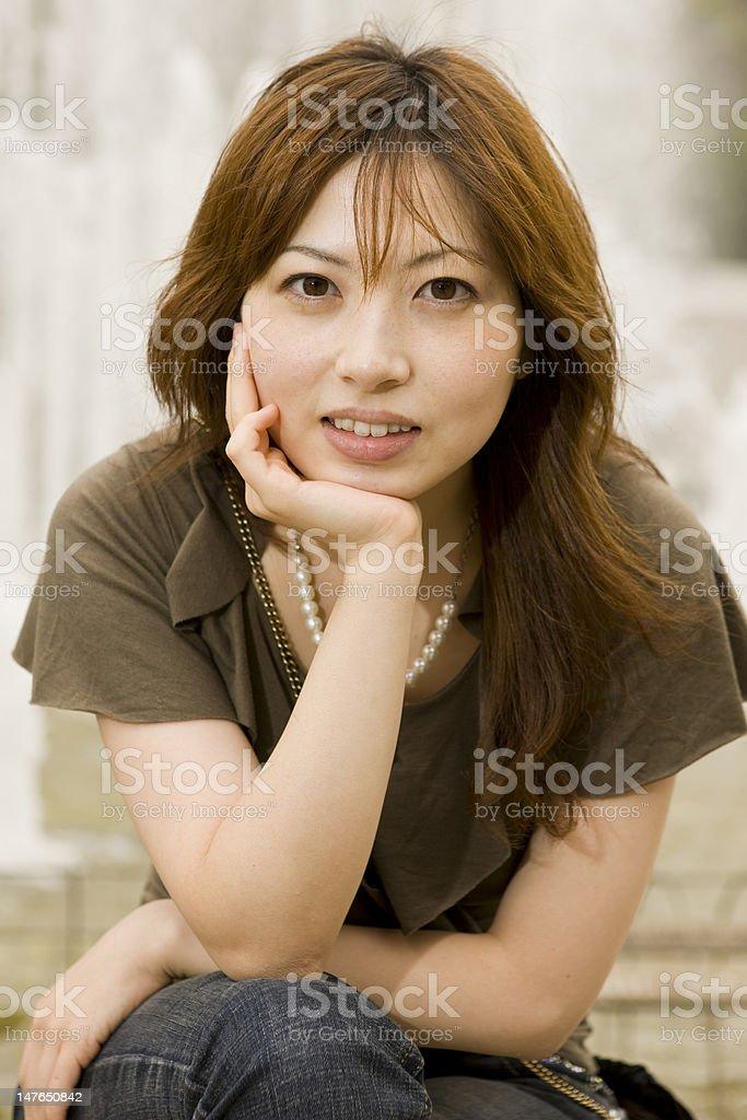 Natural Japanese woman royalty-free stock photo