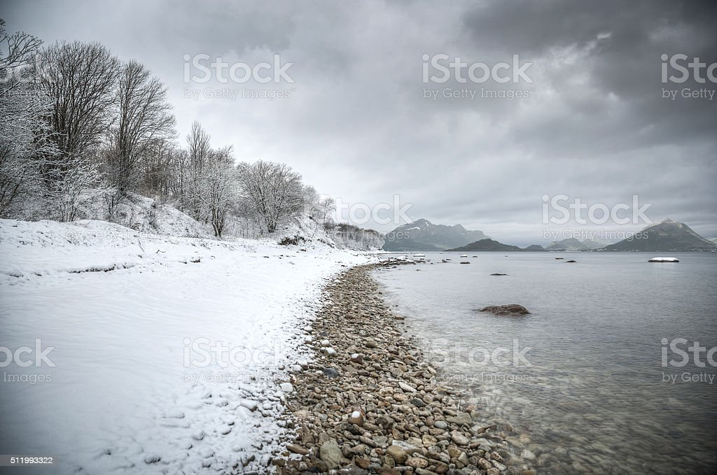 natural landscape at geirangerfjord stock photo
