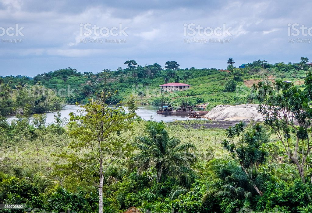 Natural landscape in Liberia, West Africa stock photo