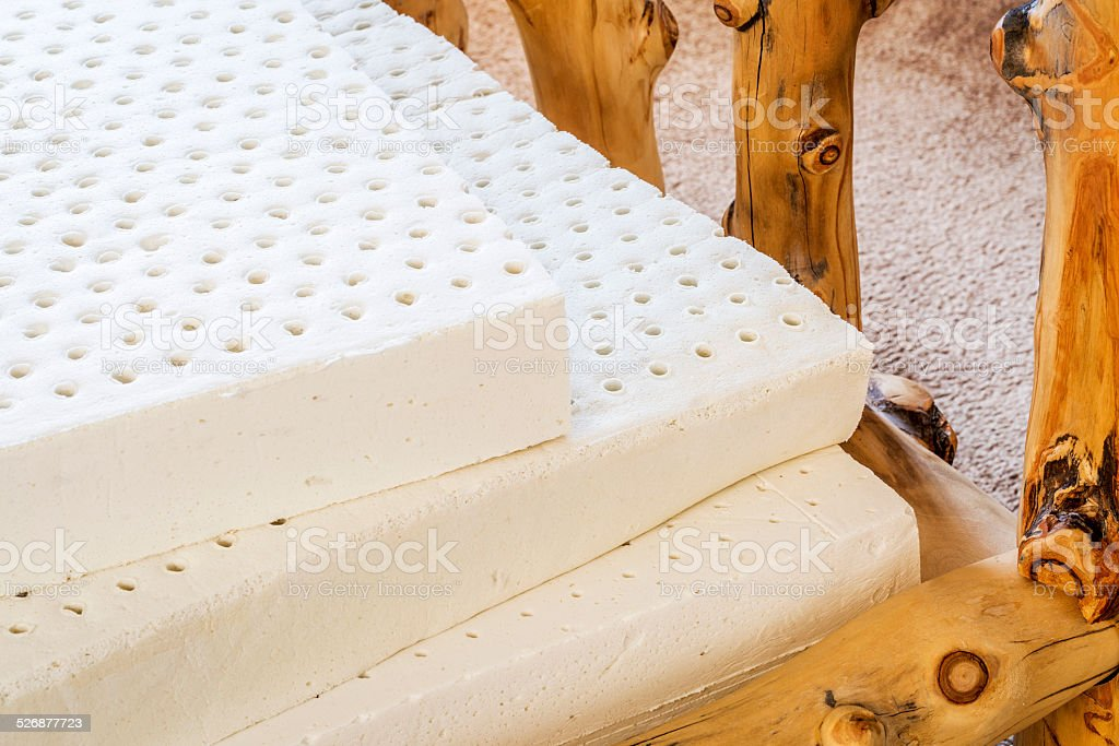 natural latex mattress stock photo