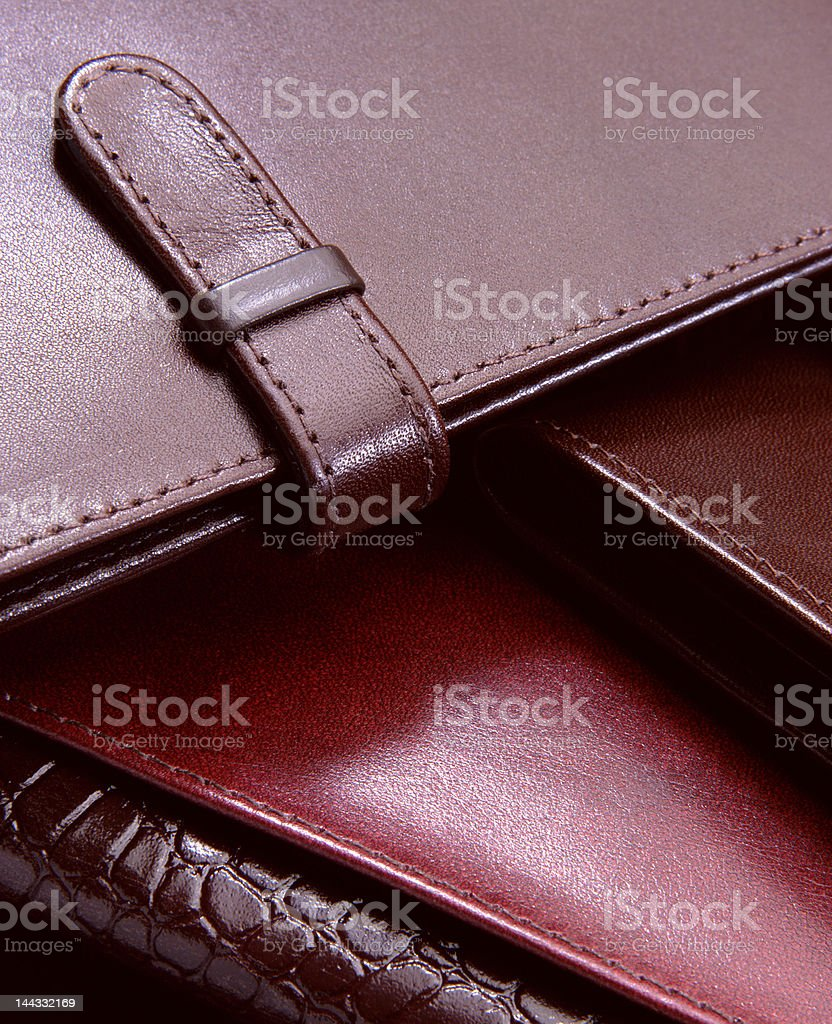 natural leather wallets royalty-free stock photo