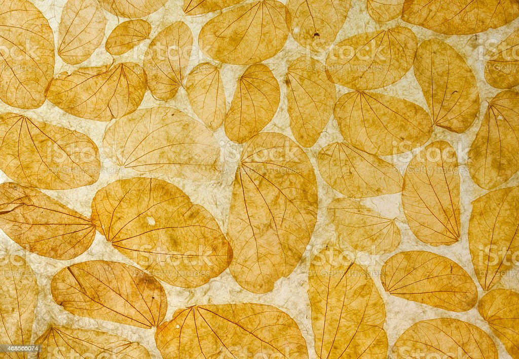 Natural leaves paper texture background horizontal royalty-free stock photo