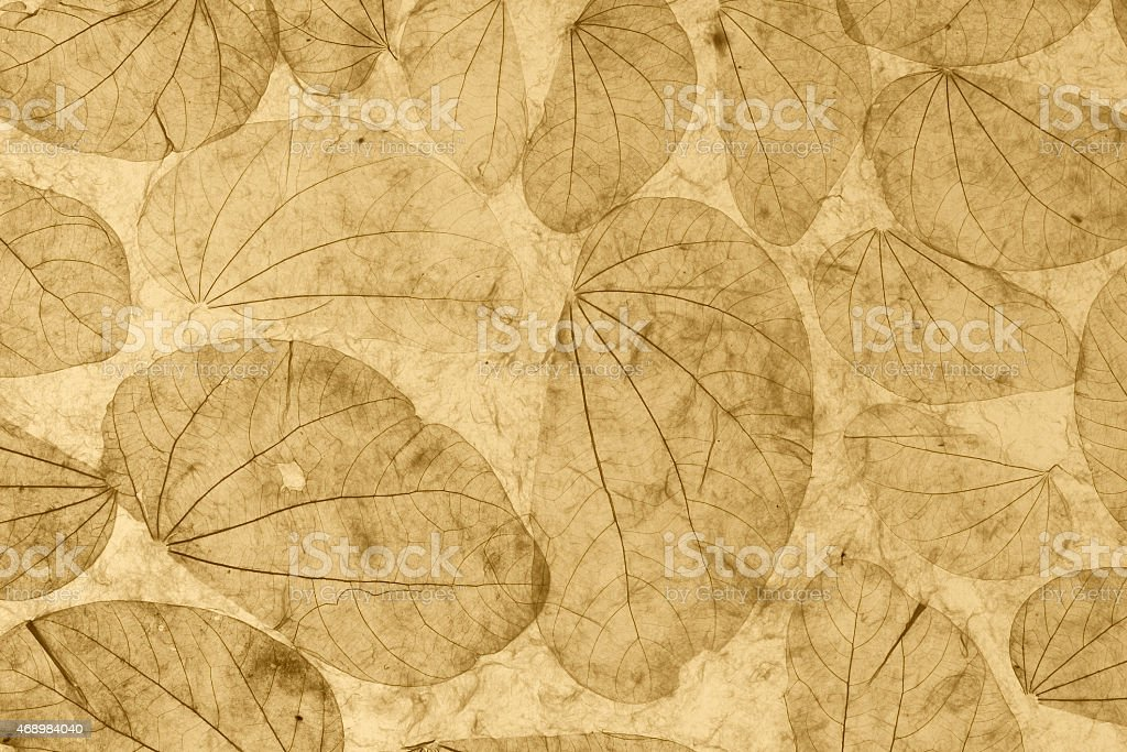 Natural leaves paper texture vintage style royalty-free stock photo