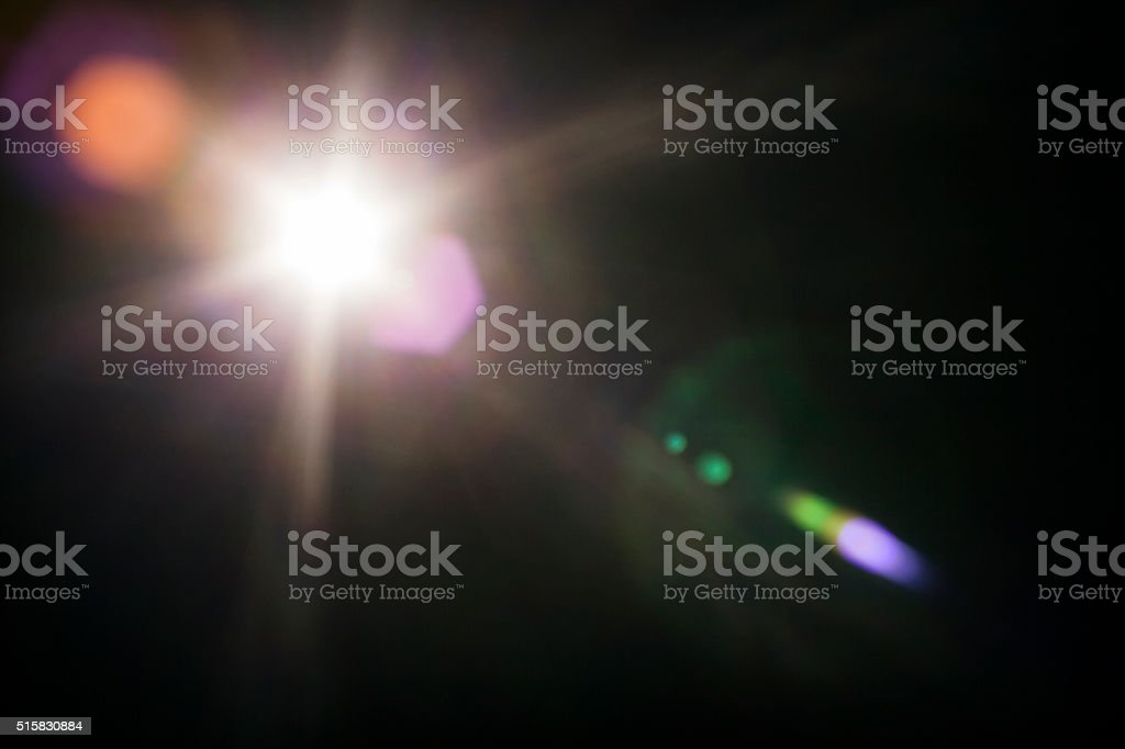 Natural Lens Flare Background stock photo