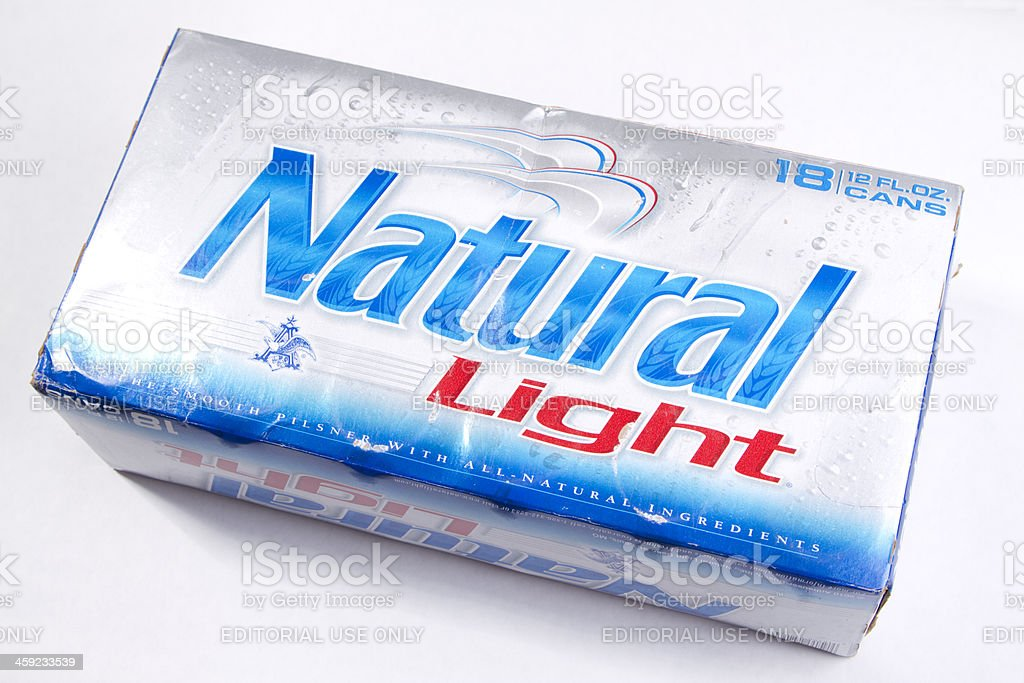 Natural Light Beer stock photo