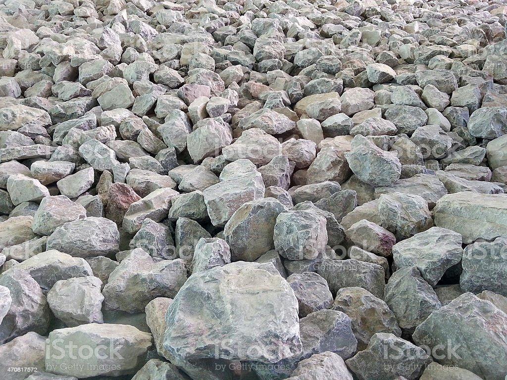 Natural limestone pile stock photo