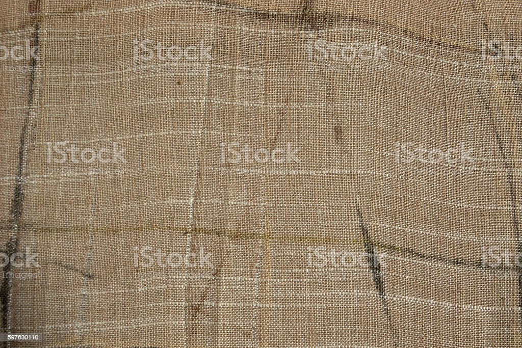 Natural linen cloth background. Organic fabric texture patterns. stock photo