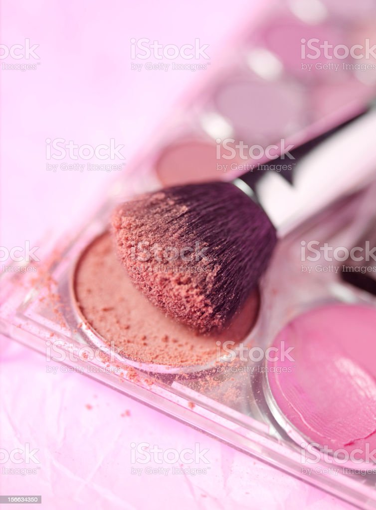 Natural Make Up and Brush royalty-free stock photo