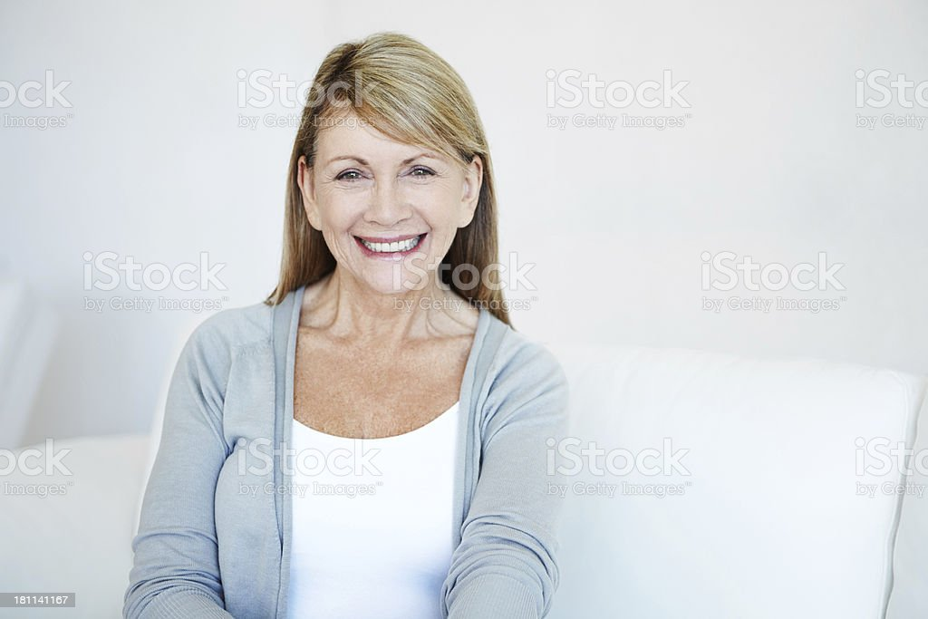 Natural mature beauty royalty-free stock photo