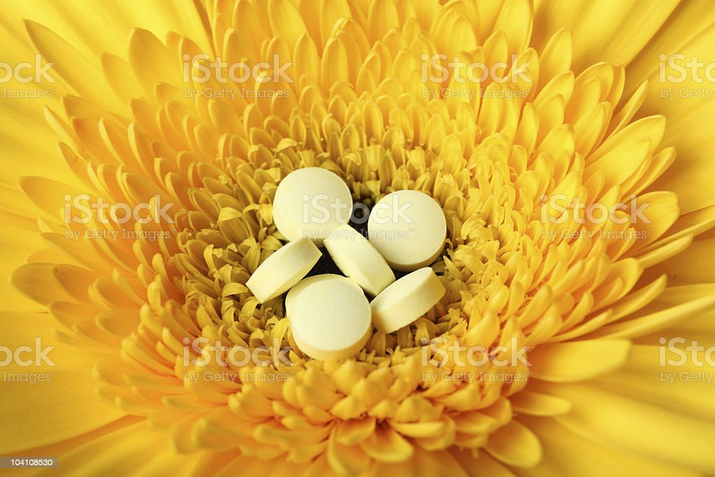 Natural medicine conception stock photo
