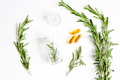 natural medicine - herbs top view