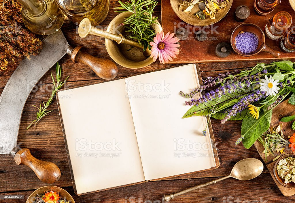 Natural medicine stock photo