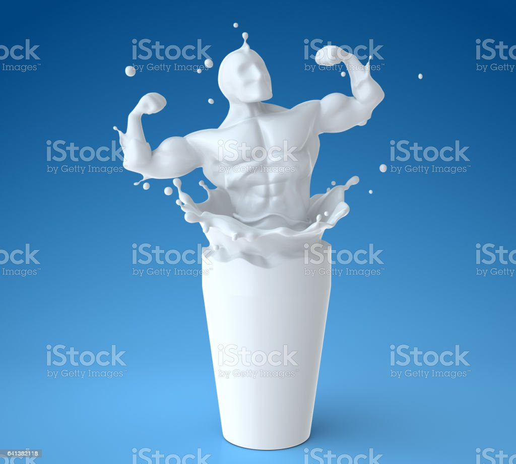 Natural milk means the health stock photo