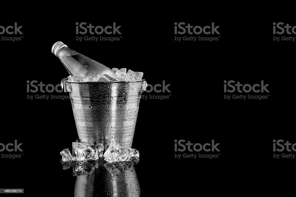 Natural Mineral Water In Ice Bucket royalty-free stock photo