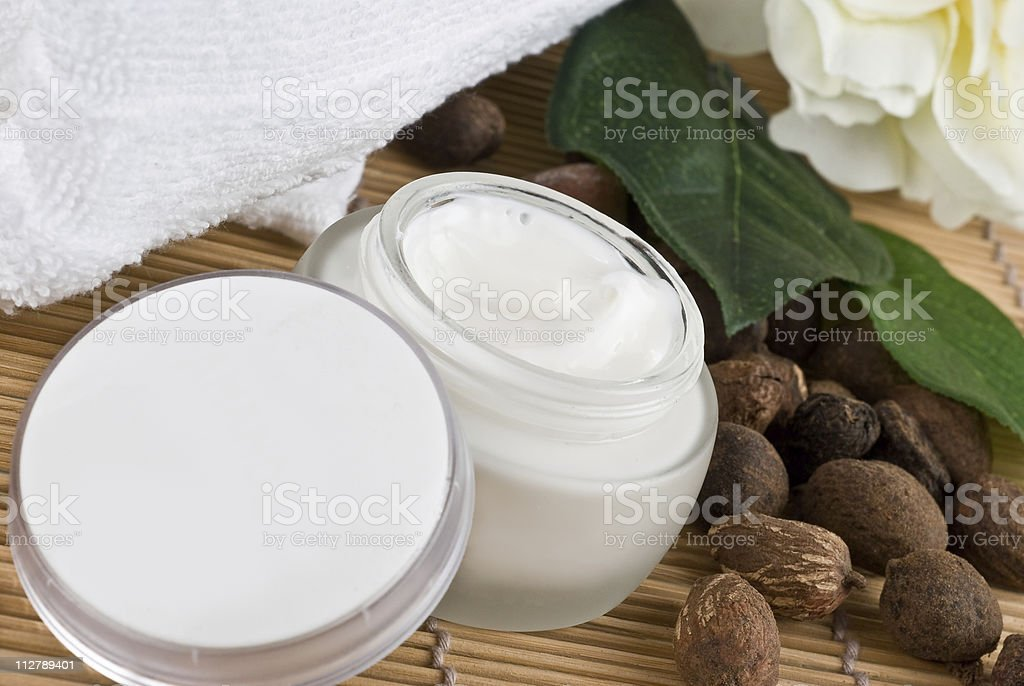 Natural moisturizing cream stock photo