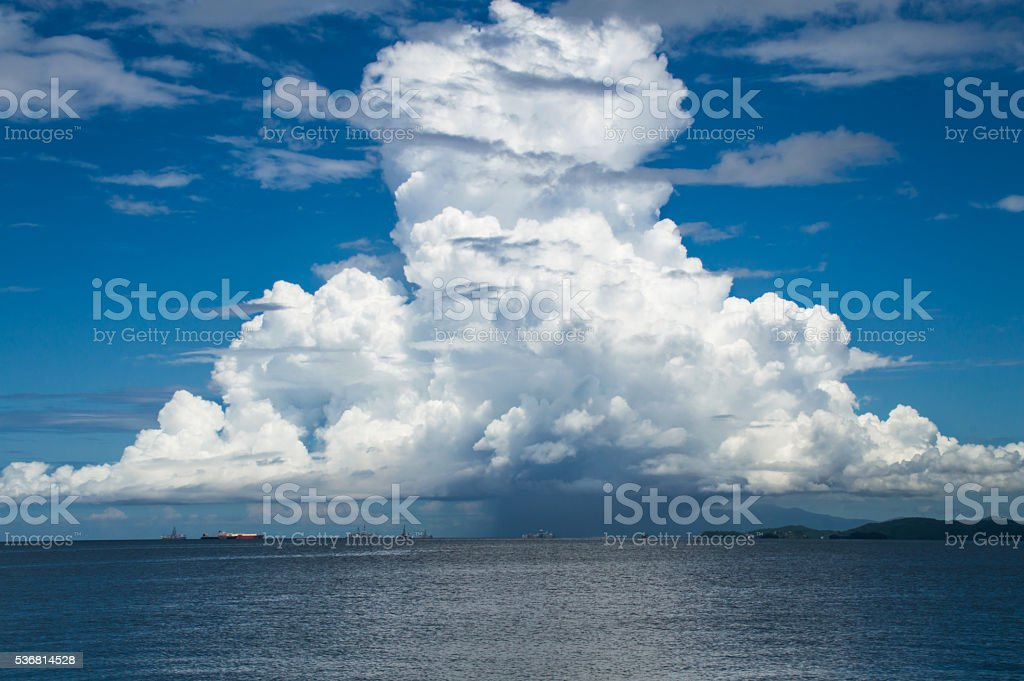 Natural Mushroom Cloud stock photo