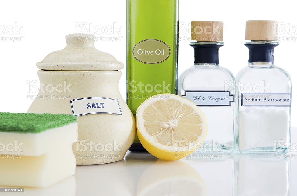 Natural Non-Toxic Cleaning Products stock photo