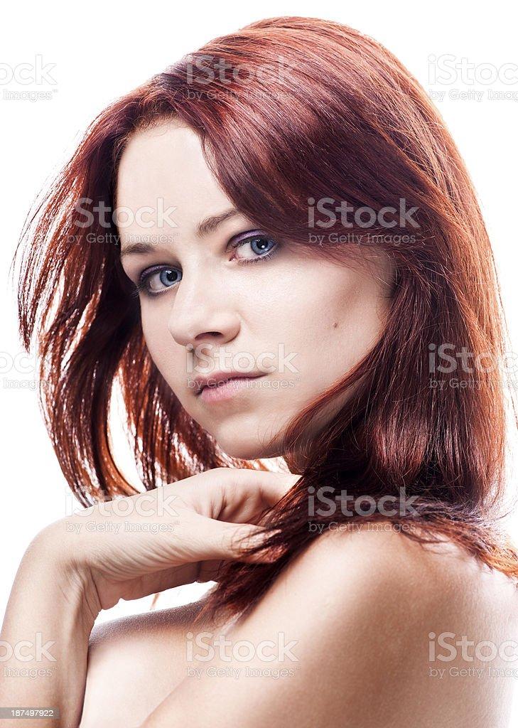 Natural nude woman royalty-free stock photo