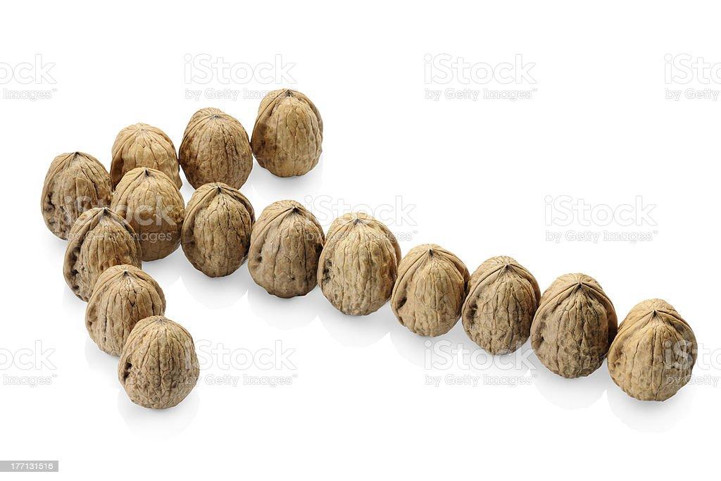 natural nuts royalty-free stock photo