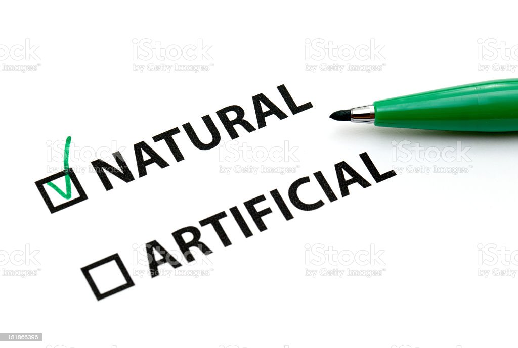 Natural or artificial royalty-free stock photo