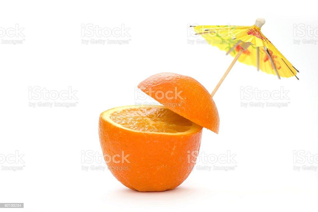 Natural Orange Cocktail stock photo