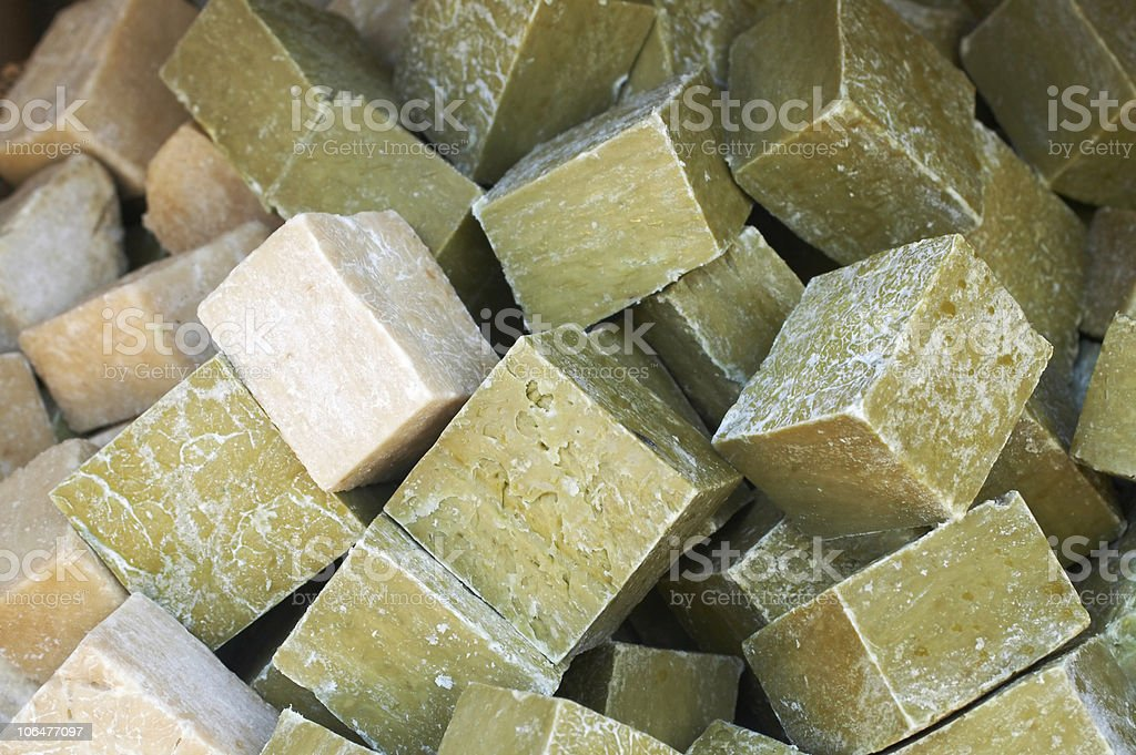 Natural organic beauty soaps stock photo