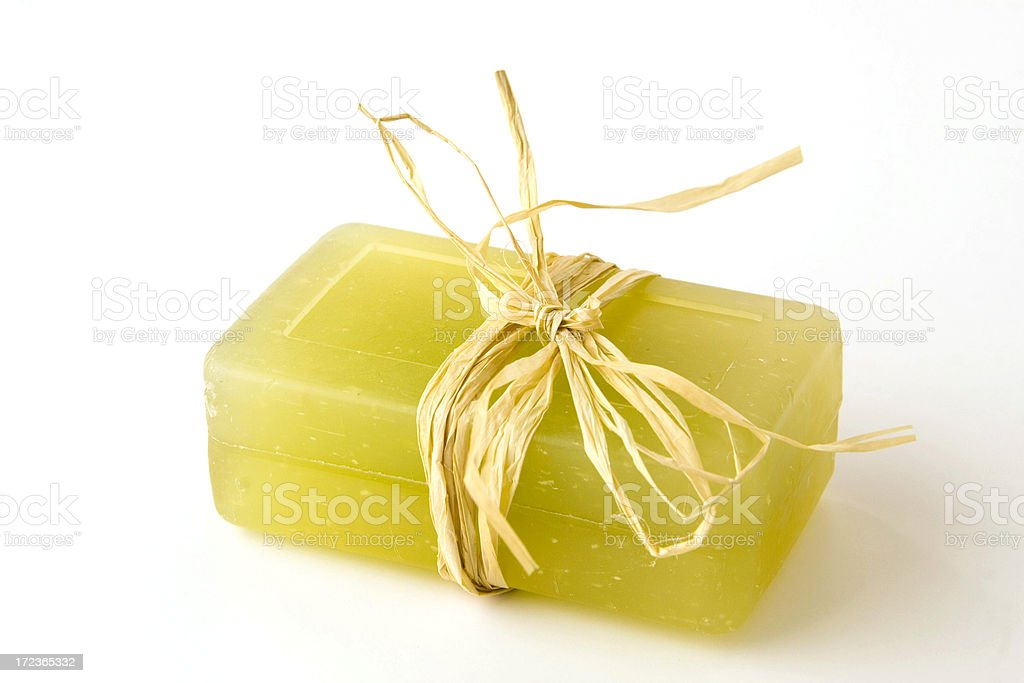 Natural organic soap stock photo