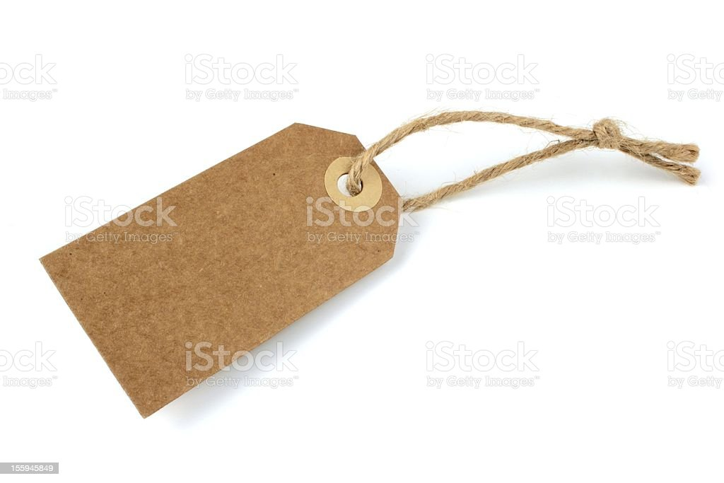 Natural paper label royalty-free stock photo