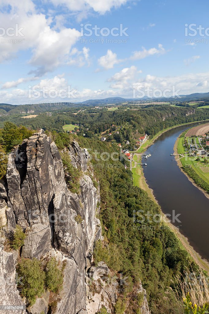 Natural Park Bastei. Elbe. Saxony. Germany. stock photo