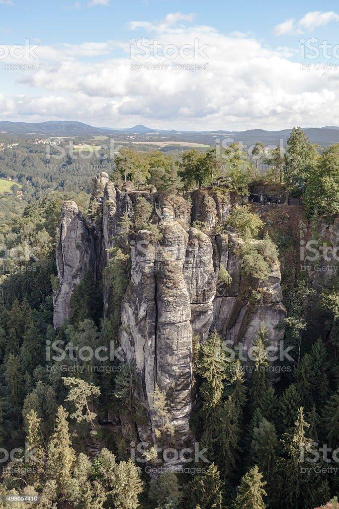 Natural Park Bastei. Saxony. Germany. stock photo