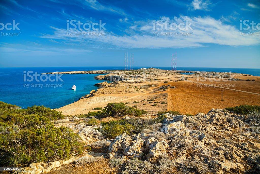natural park Cape Greco stock photo