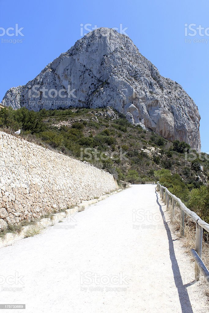 Natural Park of Penon de Ifach situated in Calp, Spain. royalty-free stock photo