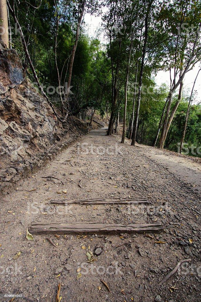 Natural path at the Hellfire Pass stock photo