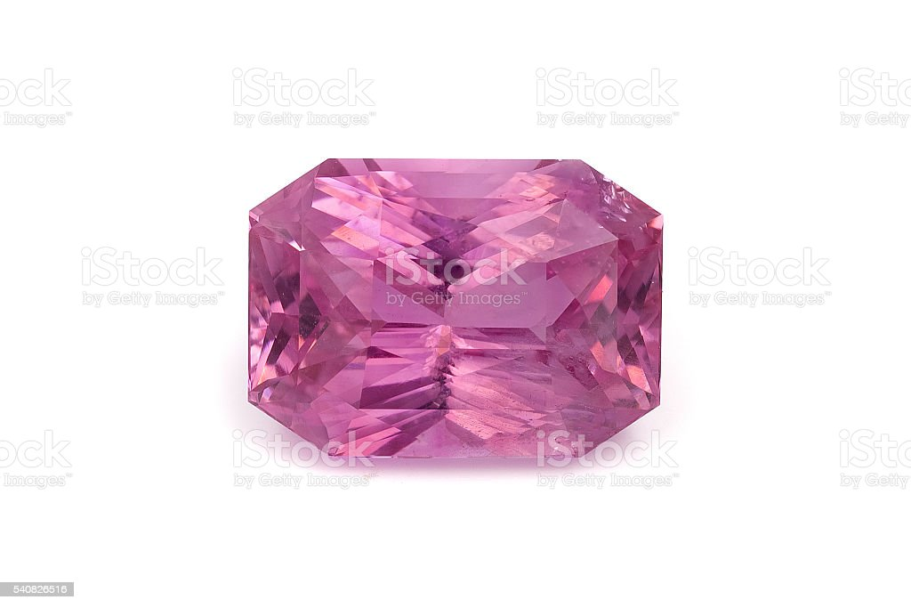 Natural Pink Sapphire Loose Gemstone stock photo