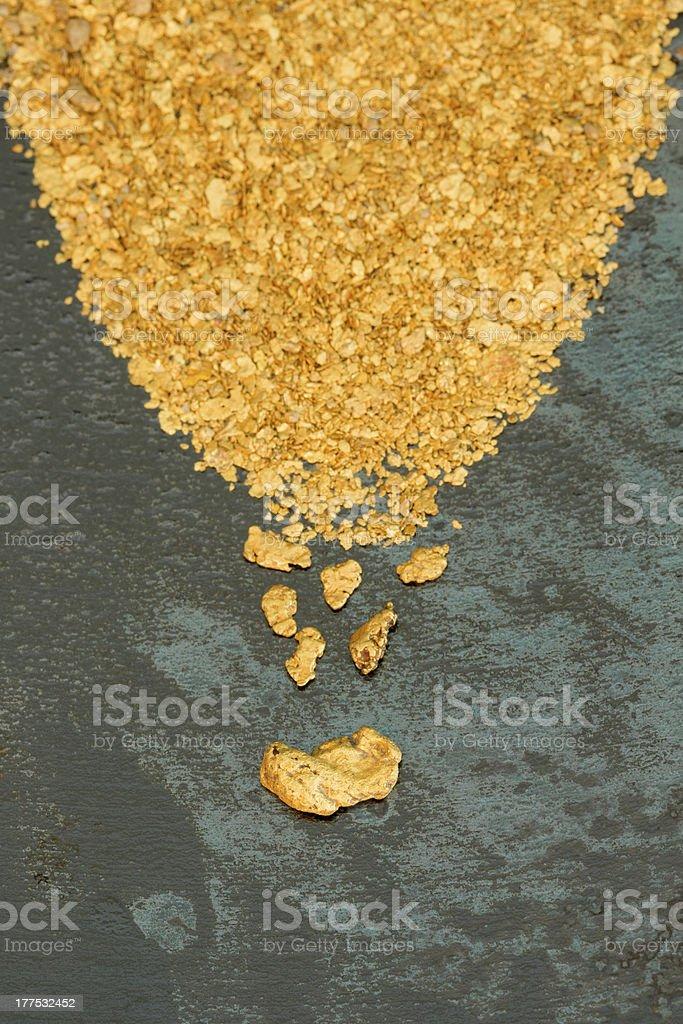 Viel Placer Gold Lizenzfreies stock-foto