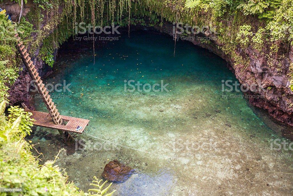 Natural Pool stock photo