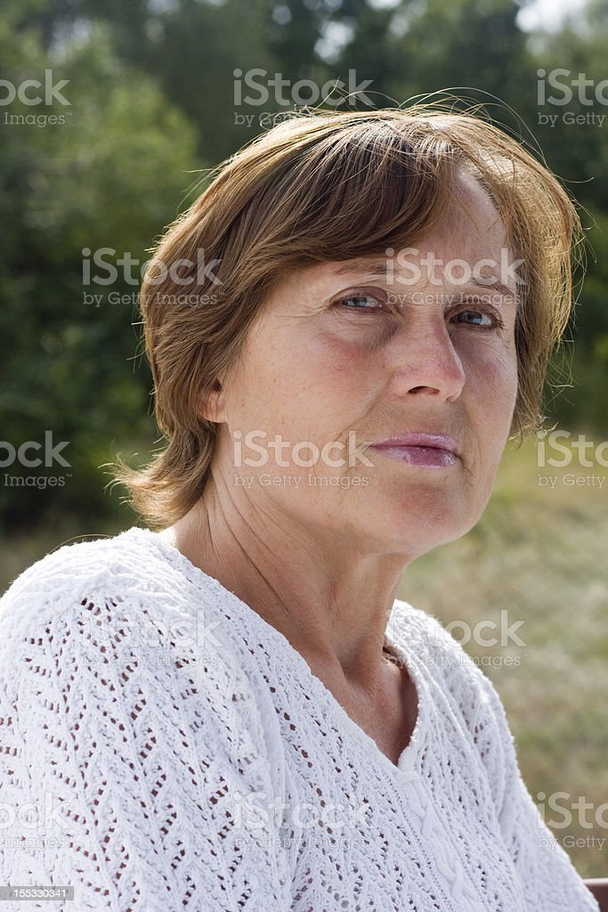Natural portrait of mature women royalty-free stock photo