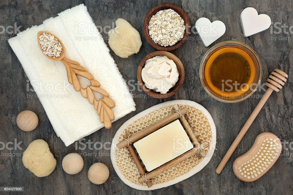 Natural Products for Skin Health Care stock photo