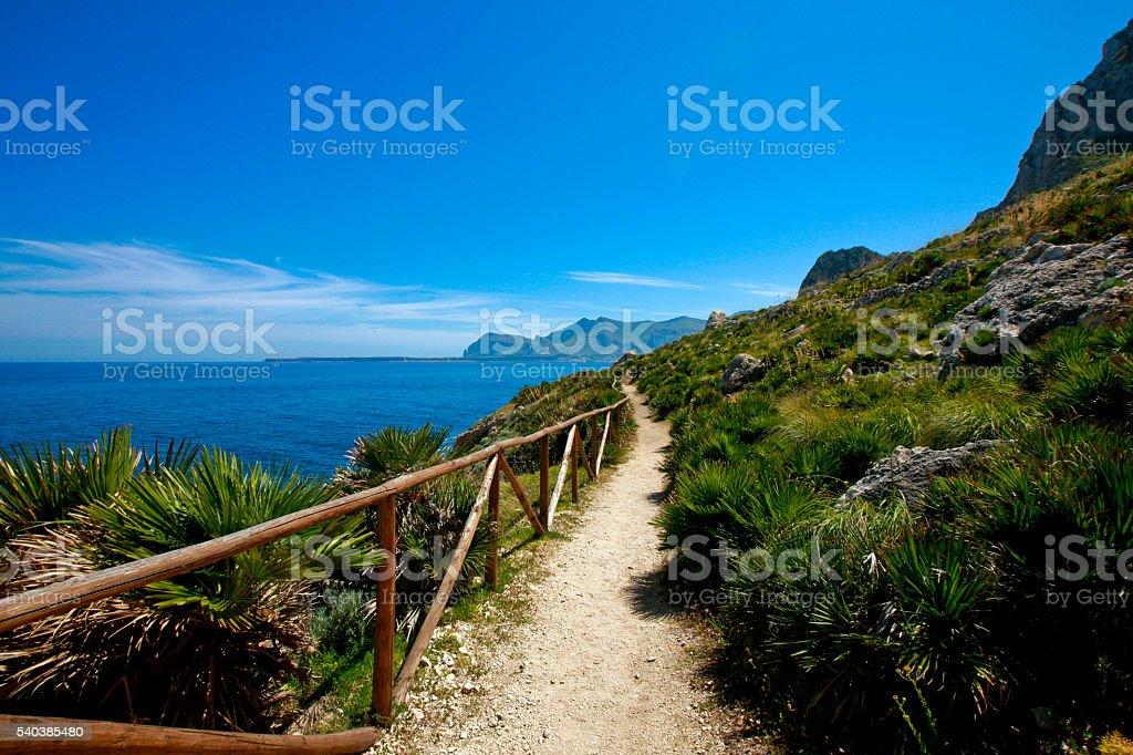 18/05/2016 natural reserve of mount cofano Trapani - Sicily -It stock photo