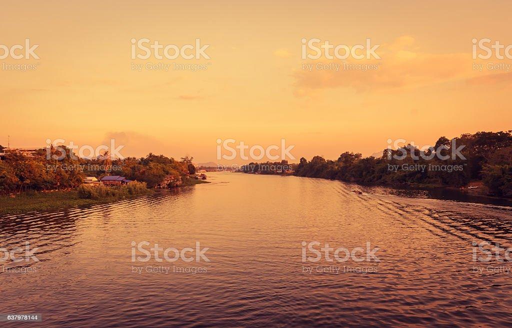 Natural river stock photo