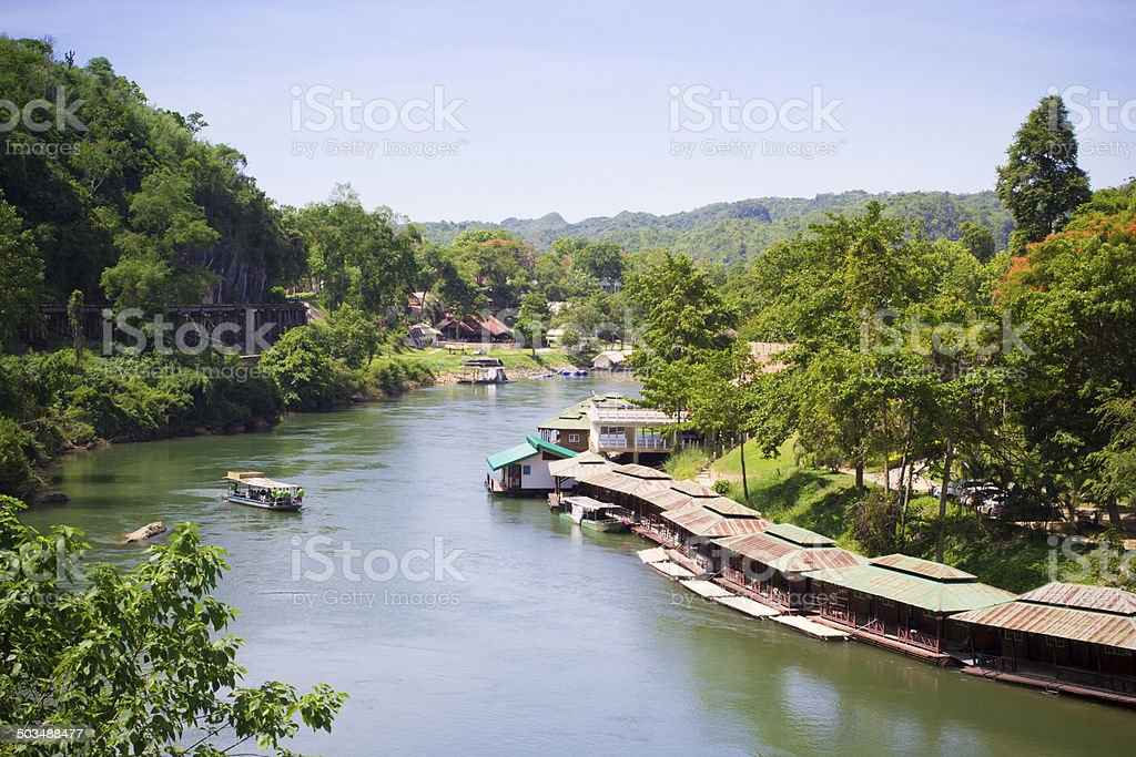 Natural river view of Kanchanburi stock photo