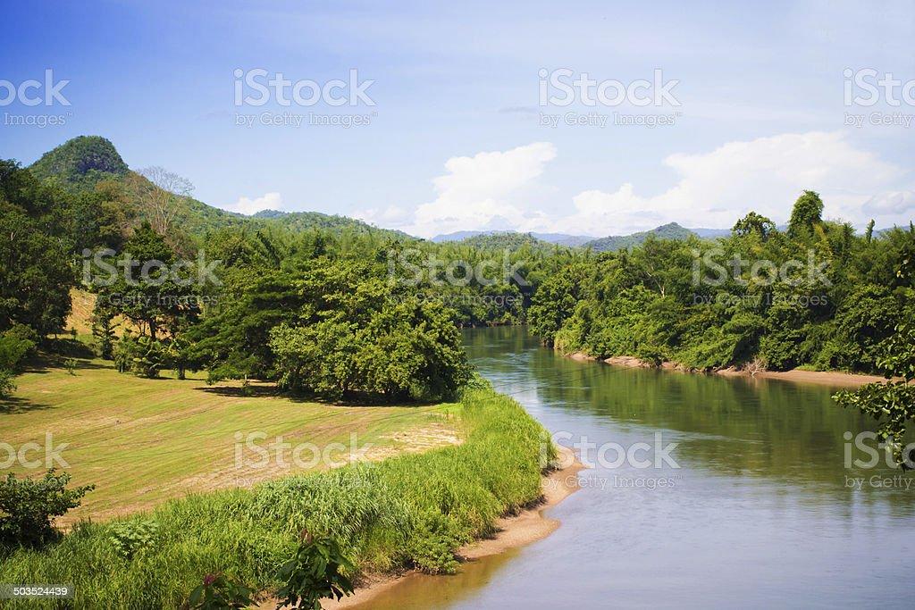 Natural river view stock photo