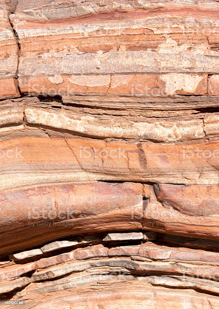 Natural Rock Layers royalty-free stock photo