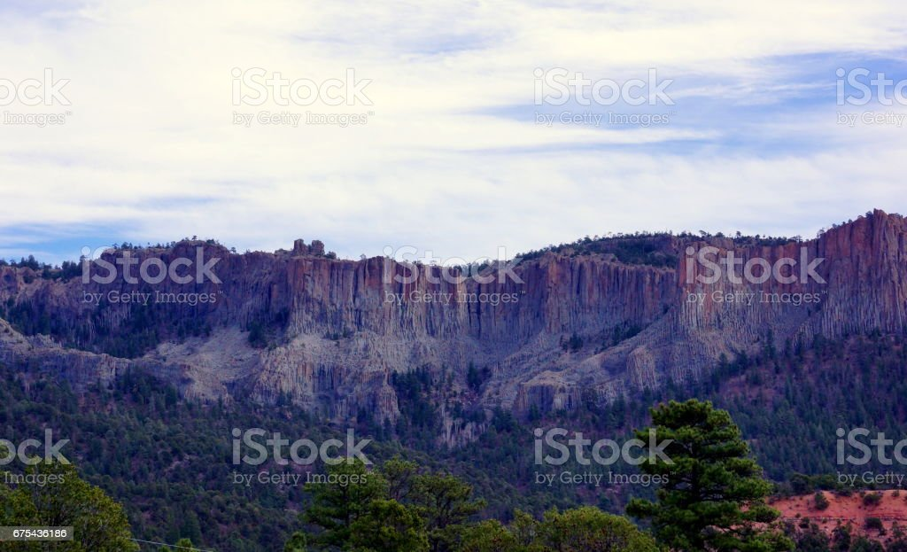Natural Rock pillar mountain, Az. stock photo