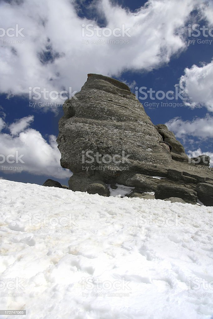 Natural rock sphinx royalty-free stock photo